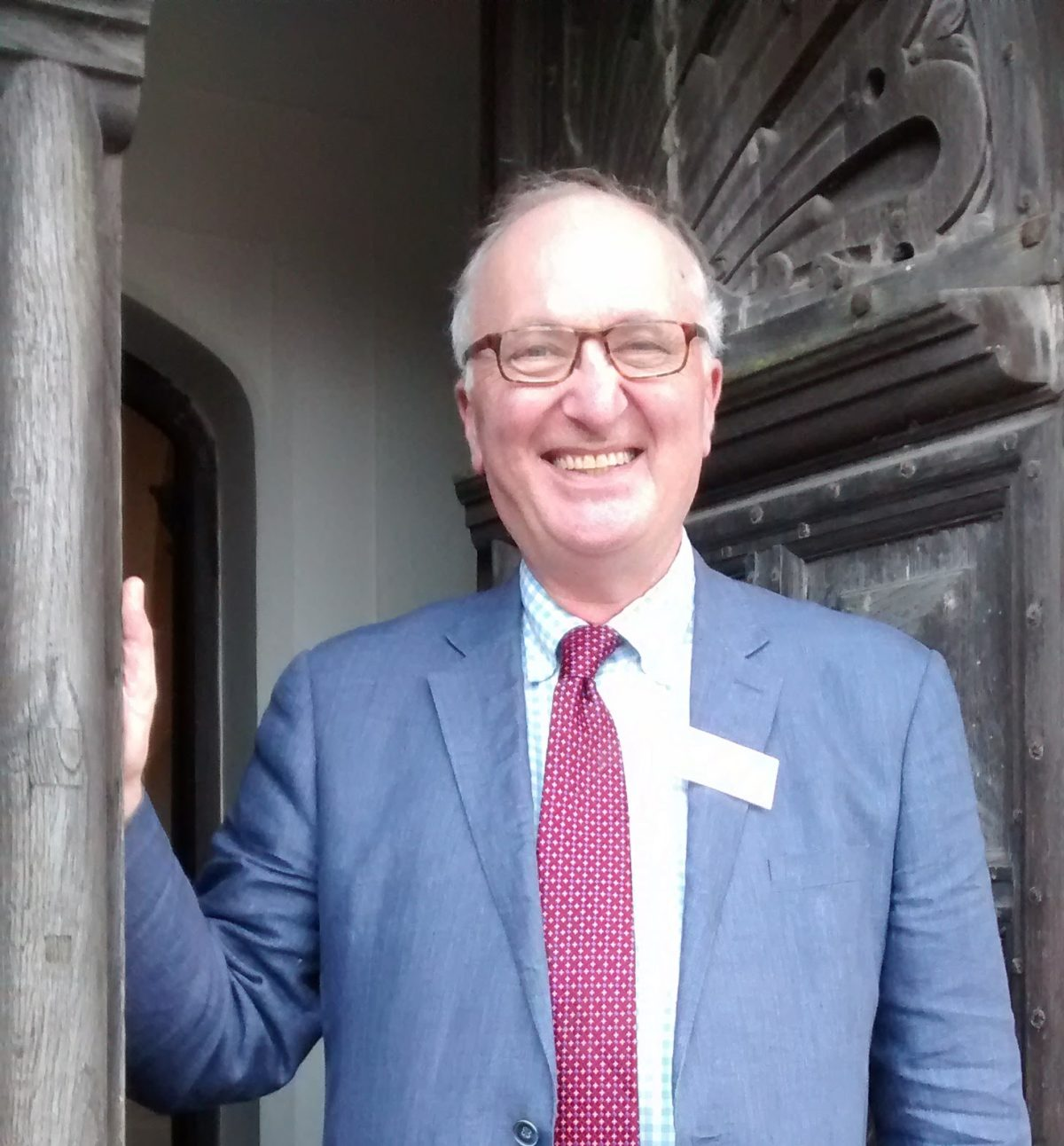 Matthew Saunders at Hatfield House, his last Friends AGM in 2017.