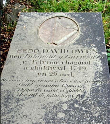 Ledger stone of harpist David Owen