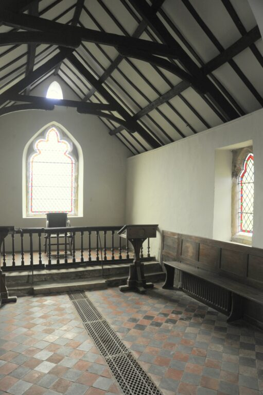 Thornton-le-Beans, Chapel: chancel interior looking east